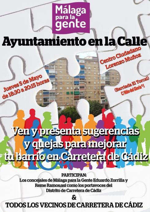 2016.05.05. Asamblea Ayuntamiento a la Calle. Carretera de Cádiz