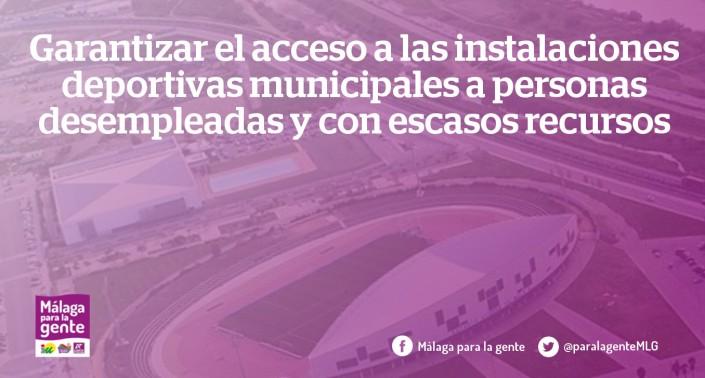 acceso desempleados instalciones deportivas